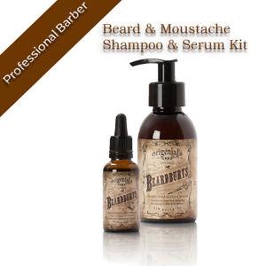 Beard& Moustache Shampoo sulfate free and Serum Kit professional beard care