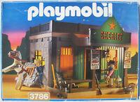 PLAYMOBIL 3786 - Sheriff Gebäude Gefängnis Office Western - 1994 - in OVP