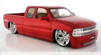 Chevy Silverado Pickup Truck Red Jada Toys Dub City 63112 1/18 Scale Diecast Car