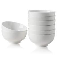 8 Pack 10oz Bowl Set Porcelain Small for Ice Cream Dessert Dishes Salad Fruit