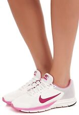 NEW Womens Nike Zoom Structure 17+ Size 9.5 White/Pink Running Shoes Nike Plus