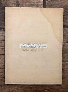 "Vintage 1900s Connecticut, Middletown Linen-Back Fold-Up Map 18"" x 13"""
