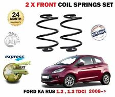 FOR FORD KA 1.2 1.3 TDCI 2008 > NEW 2X FRONT LEFT + RIGHT COIL SPRING SET