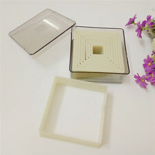 (9pcs/set) Flat Square Nylon Plastic smooth Cookie Fruit mooncake Cutter Mold