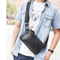 Men's Vintage Leather Fanny Pack Waist Bum Belt Pack Chest Bag Crossbody Pouch