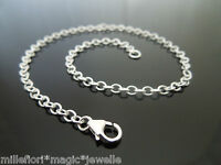 3mm 925 Sterling Silver Plain Oval Trace Chain ~ Bracelet, Anklet, OR Necklace