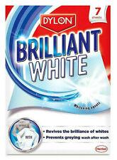 Dylon Brilliant White Laundry Fabric Cloths Whitener Revives Freshens 7 Sheets