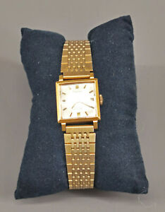 99820062 Vergoldete Damen-Armbanduhr Dugena Handaufzug