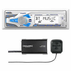 Dual MXD340SXM Marine Mechless AM/FM Bluetooth USB/AUX Receiver, SiriusXM Tuner