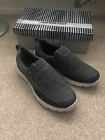 mens trainers Size 6 Memory Foam Soles New DEK Black Grey Shoes