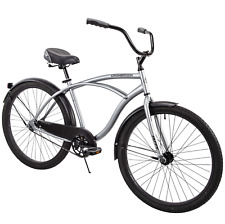 "Huffy 26"" Cranbrook Men's Beach Cruiser Comfort Bike, Silver brand new in box"