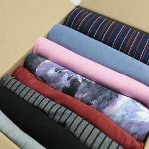 1,8 kg Jersey Stoffpaket Meterware Stretch Sommer Kleidung Bündchenstoff Reste