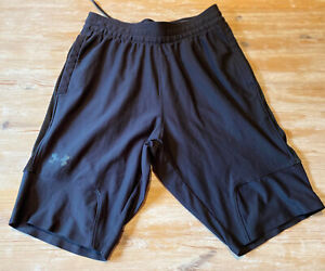 Mens Black Under Armour Heatgear Shorts Size Small Very Good Condition