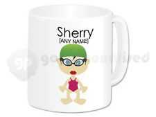 Personalised Girls Swimming Gifts Swimming Mug Cup Teacher Swimmer Present #3