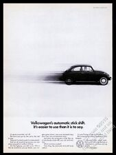 1968 VW Beetle classic car photo Automatic Stick Shift 11x8 Volkswagen ad