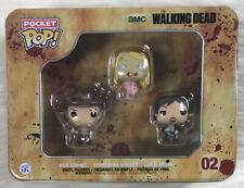 The Walking Dead Pocket Pop! Mini Vinyl Figure 3-Pack Tin