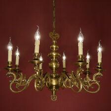 DANGEROUS LARGE DRAGON ARM CHANDELIER BRONZE VINTAGE OLD CEILING LAMP ANCIENT