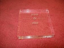 "4"" Square Acrylic ""You and Me"" Wedding Cake Top Topper, Table decor, Free ship!"