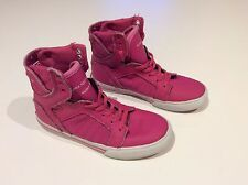 Supra high tops Pink girls youth shoes cool..