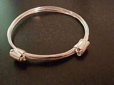 Silver Plated Elephant hair bracelet