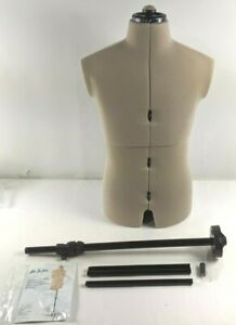 Dritz Mr. Tailor Adjustable Dress Form Male Expands 2-8 Inches Offset Pole Open