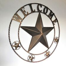 """32"""" WELCOME LONE STAR METAL WALL ART WESTERN HOME DECOR RUSTIC COPPER BRAND NEW"""