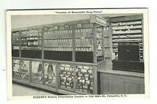 Old Postcard Eckerd's Modern Prescription Counter Columbia SC Pharmacy Drugs