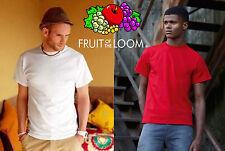 FRUIT OF THE LOOM maglietta t-shirt HEAVY 8 colori PESANTE manica corta Gr 195 #