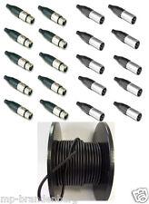 20 x XLR Amphenol Stecker/Buchse und 100m Mikrofonkabel /NF Kabel symmetrisch