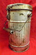 Vintage Silver Colored Tin Ice Bucket / Carry Ice Box Rich Patina Collectible