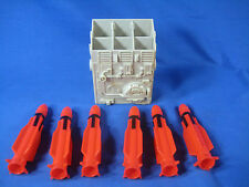 GI JOE VINTAGE USS FLAGG AIRCRAFT CARRIER 1985 Missile Launcher Box 6 Rockets