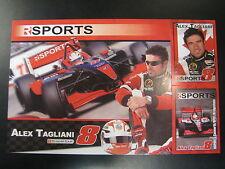 Autograph Card Champ Cars Team R Sports 2007 #8 Alex Tagliani (CAN)
