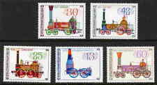 BULGARIA 1984 LOCOMOTIVE STAMPS - MINT COMPLETE SET OF 5!