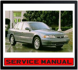 HYUNDAI SONATA Y3 1995-1998 REPAIR SERVICE MANUAL ~ DVD