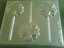 3 CAVITY SNOWFLAKE CHOCOLATE LOLLIPOP, MOULD, SOAP, CLAY, MOULD / MOULDS