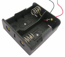 1PC 2 x C Size Cell Battery Batteries Holder Box 3V Case With Wire Lead New