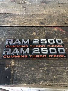 1994 1995 1996 1997 DODGE RAM 2500 12V CUMMINS TURBO DIESEL EMBLEM SET DECALS