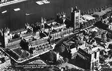 London Houses of parliament and westminster abbey from the air R/P unposted