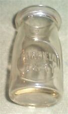 Fairfield Dairy 1/4 Pint Embossed Bottle 1946