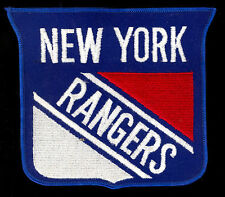 NHL vintage orig 1970'S NEW YORK RANGERS hockey logo patch crest 6X5.5 NOT USED