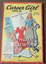 "1944 THERMOLOID CORP. & HOLLYWOOD PATTERNS ""CAREER GIRL FASHION ART"" PAPER DOLL"