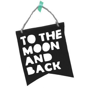 NEW Homely Creatures To The Moon & Back Banner - Black Children Baby