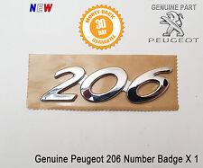 Peugeot 206 Tailgate Boot Badge Emblem Number Logo Rear Name New Original