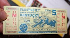 University of Kentucky vs Vanderbilt 1966 NCAA College Football Ticket