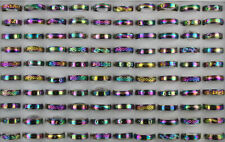 50pcs Mixed Lots Colorful Rotation Stainless Steel Unisex Alloy Rings Wholesale