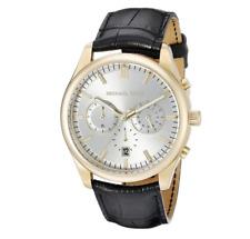 Michael Kors Women's Lake Black Leather Strap Watch 32x39mm MK2586
