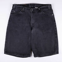 Vintage LEVI'S 560 Loose Fit Men's Faded Black Casual Denim Shorts W36 L22