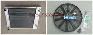 5 ROW Alloy Radiator+fan for Land Rover Defender Discovery 300TDI 90/110 BTP2275