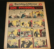 1950 Sunday Mirror Weekly Comic Section April 2nd (F+) Superman Action