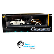 Cararama 1:72 Volkswagen Beetle #53 with Caravan III in Clear Plastic Case